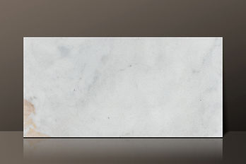 Picasso White Marble Beveled Edge Tile