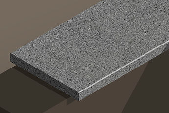 brazil black flamed granite chamfered steps and copings