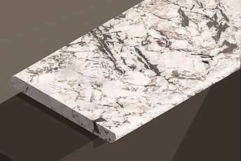 bianco artico polished granite bullnose steps and copings