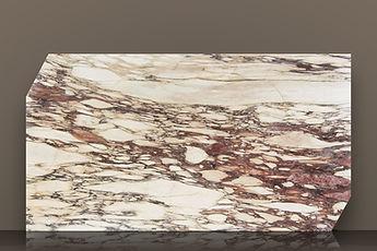 calacatta breccia viola bookmatched honed marble slab