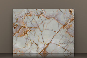 crystal white backlit polished onyx slab