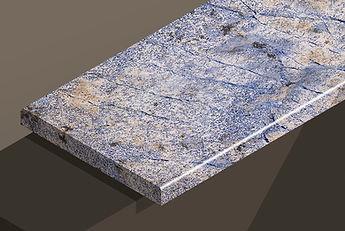azul bahia polished granite pencil steps and copings