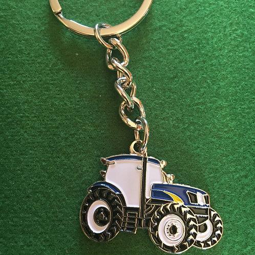 Tractor keyring enamel