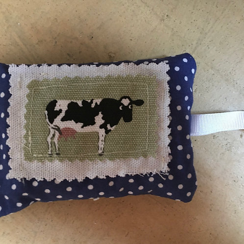 Cow lavender bag.