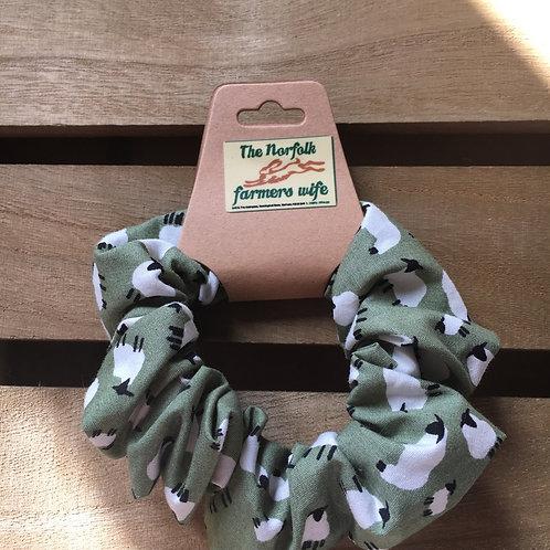 Sheep scrunchie handmade