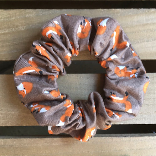 Fox scrunchie handmade