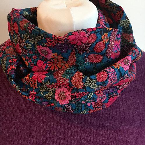 Handmade Liberty Ciara tana lawn infinity loop scarf