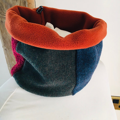Reloved Woollies recycled neckwarmer