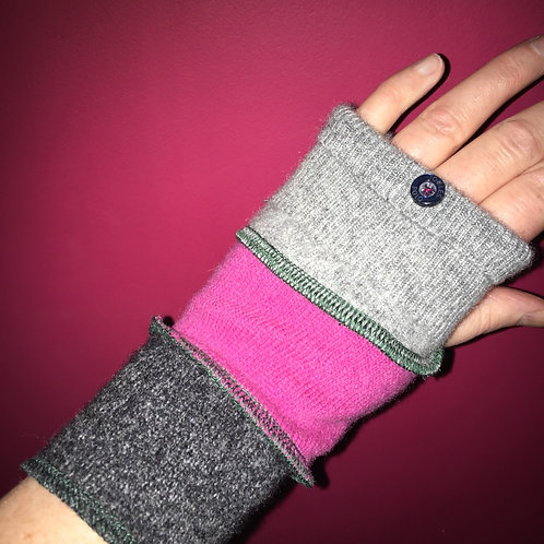 Reloved Woollies wrist warmers recycled wool