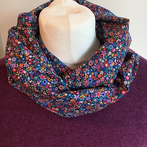 Handmade Liberty Dazzle tana lawn infinity loop scarf