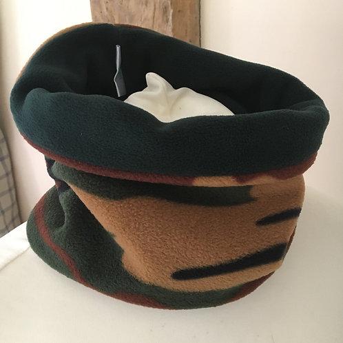 Hand made camouflage fleece neckwarmer