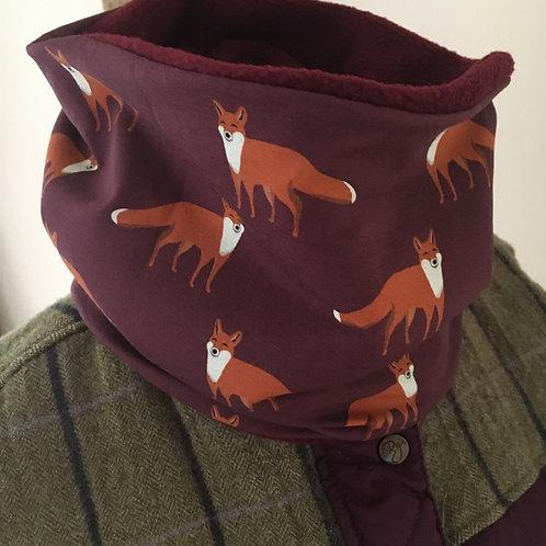 Hand made Adult Jersey Fox neckwarmer/snood