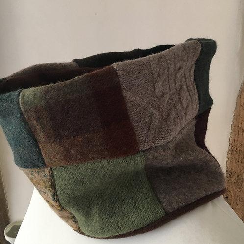 Men's large Reloved Woollies patchwork neckwarmer