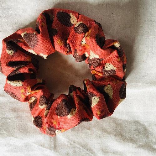 Hedgehog scrunchie handmade