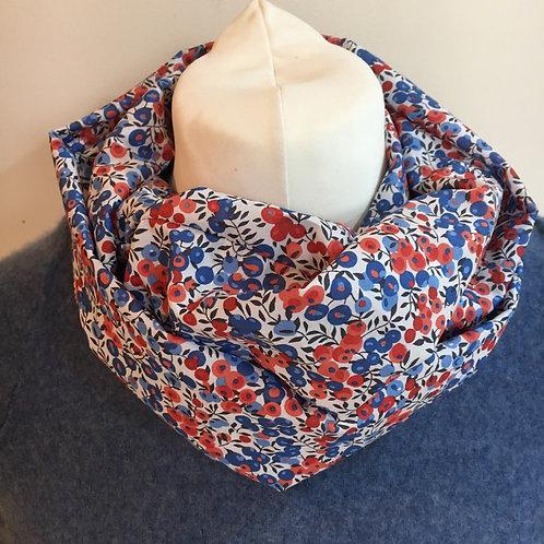 Handmade Liberty Wiltshire Berry tana lawn infinity loop scarf