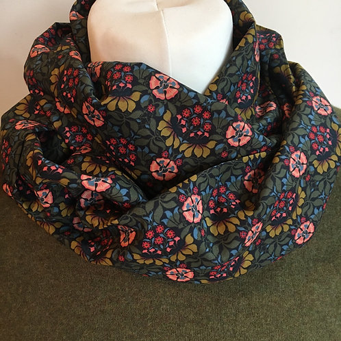 Handmade Liberty Persephone tana lawn infinity scarf