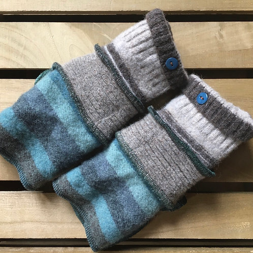 Thick Reloved Woollies recycled wristwarmers