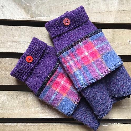 Handmade Reloved Woollies recycled wristwarmers