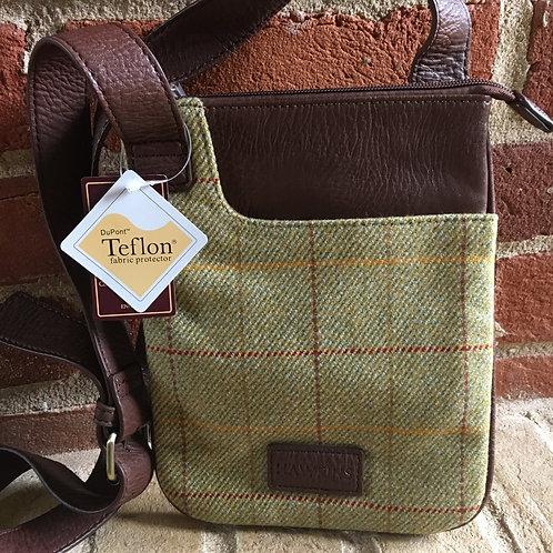 Light green check Tweed bag