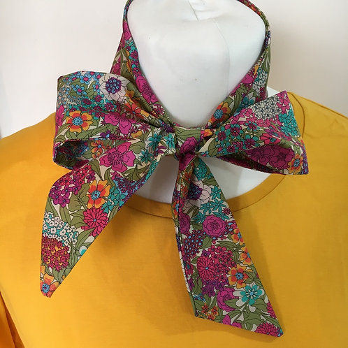 Handmade liberty skinny scarf, hair scarf, neck tie, hair bow