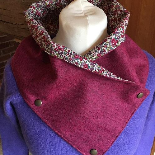 Handmade British tweed neck wrap scarf