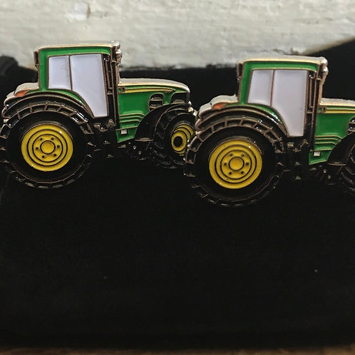 Tractor cufflinks with gift bag