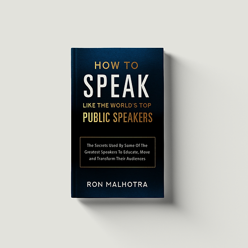 How To Speak Like The World's Top Public Speakers - PRE-ORDER