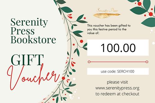 Serenity Press Christmas Bookstore Voucher $100