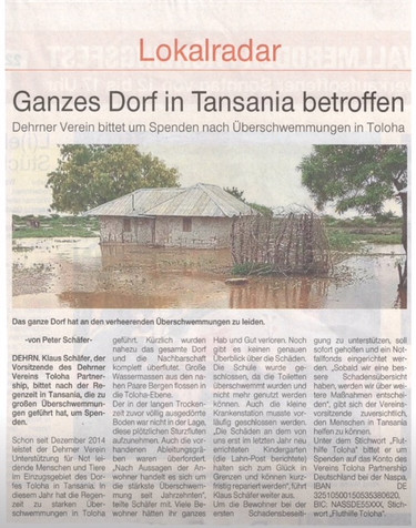 German Newspaper Writes Story on Toloha Flood