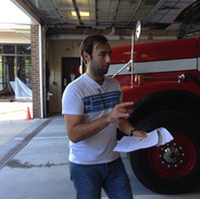 Barry Directing in front of Fire Truck.j