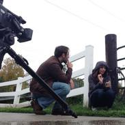 Barry Worthington directing Saalika Khan