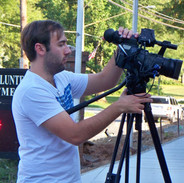 Barry filming at Laytonsville Fire Stati