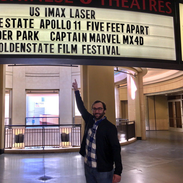 Barry Worthington at Golden State Film Festival Marquee, at Chinese 6 Theatres om Hollywodo for BUMMER Screening