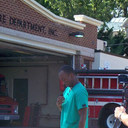Chuma and Barry at Laytonsville Fire Sta