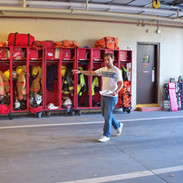 Barry Directing at Laytonsville Fire Sta