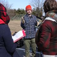 Matthew Zamora, Grip, Shayla Racquel, Script Supervisor, and Barry Worthington, Director on set for BUMMER