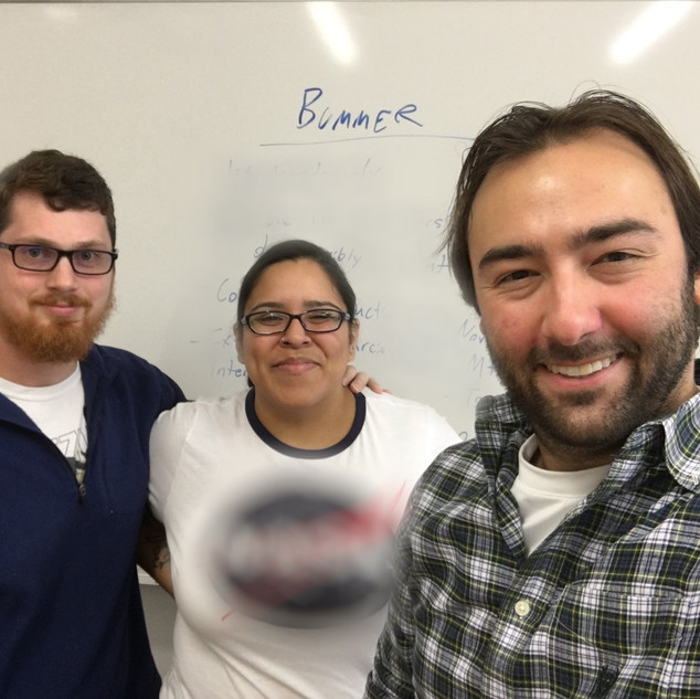 Barry Worthington, Michelle Hernandez, Richie Wenzler during first Pre-Production meeting of BUMMER