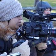 Michelle Hernandez, Cinematographer, with Camera