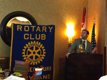 Barry speaks to the Gaithersburg Rotary Club about filmmaking and Limitless Films