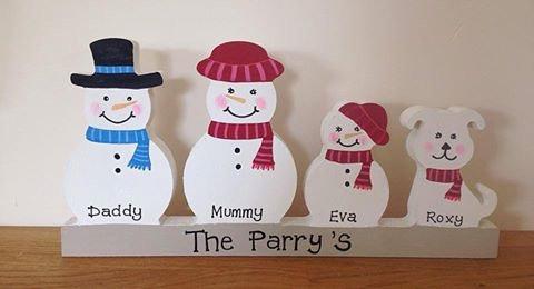 Snowman family plinth