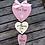 Thumbnail: New baby trio of hearts keepsake