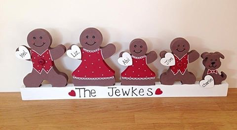 Gingerbread family plinth