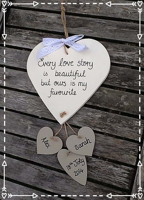 Every love story personalised heart