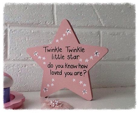 Pink Twinkle Twinkle Star