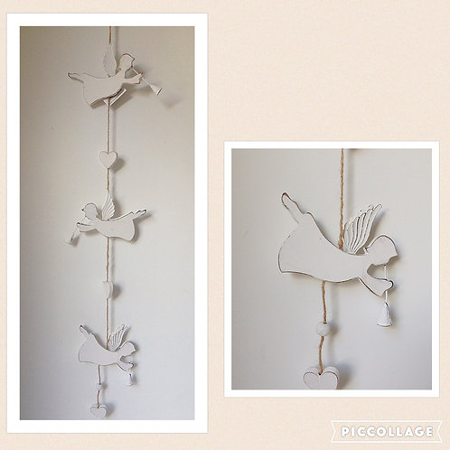 wooden angel garland