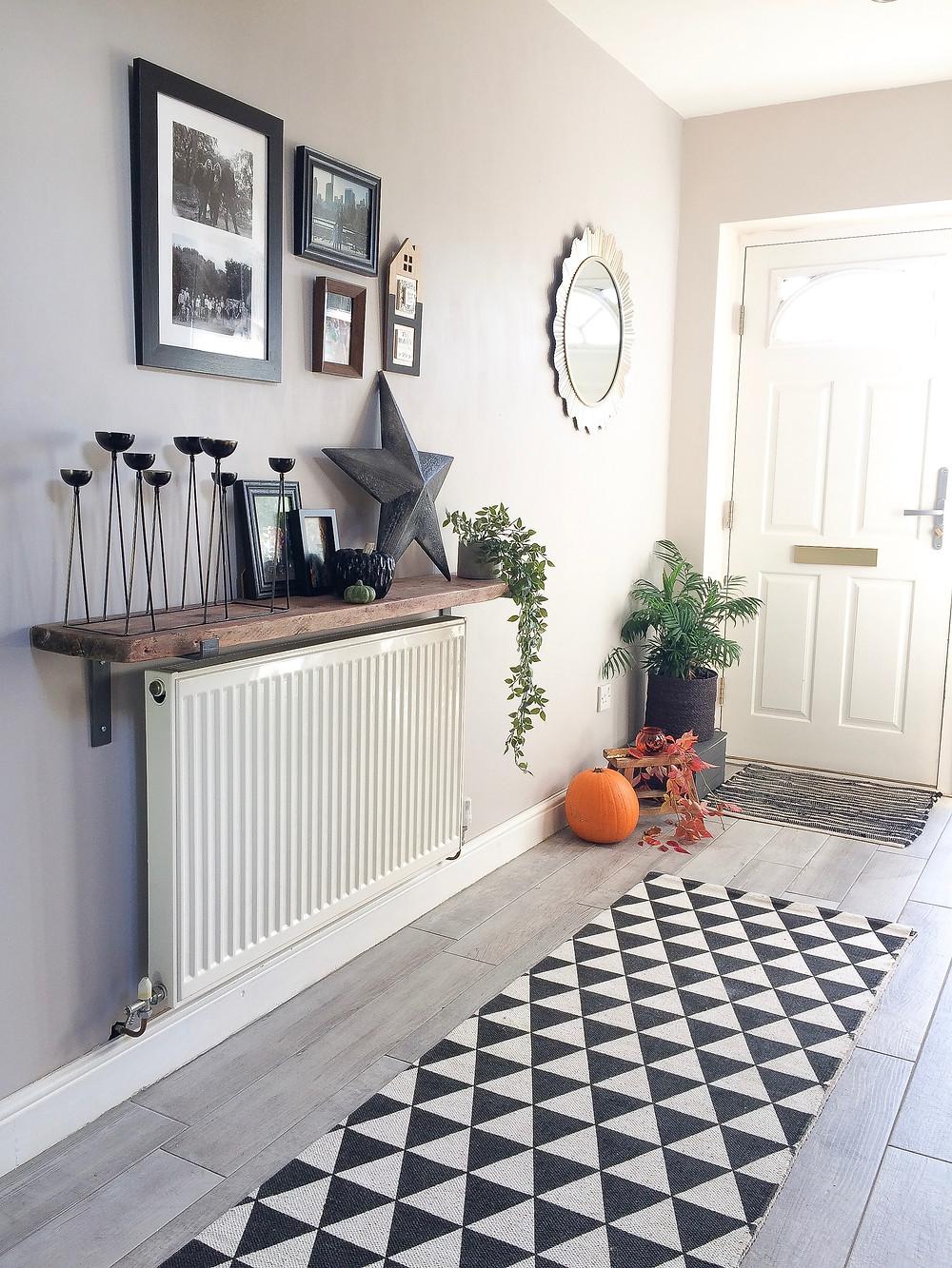 autumn hallway makeover, monochrome hallway, entrance hall
