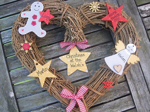 Personalised Christmas Family wreath