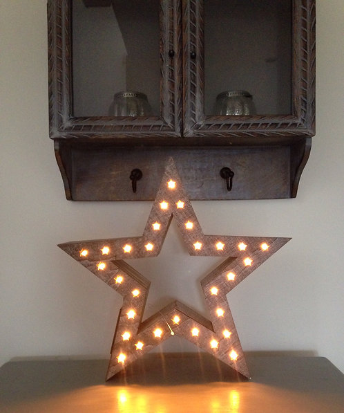 Chunky wooden LED star