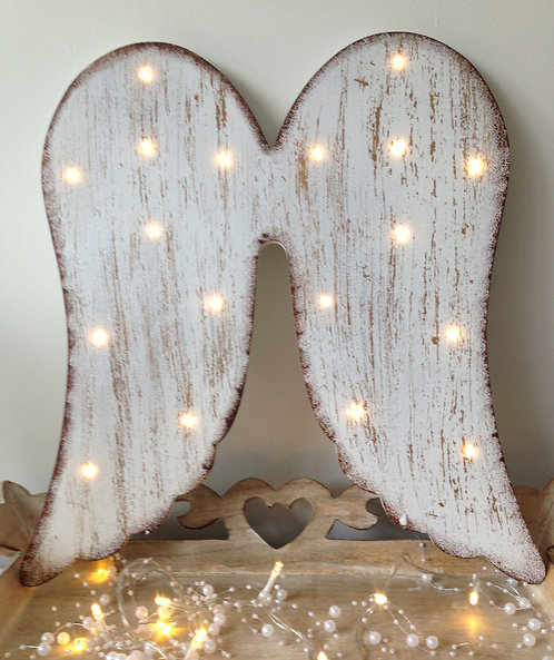 Stunning LED wooden angel wings