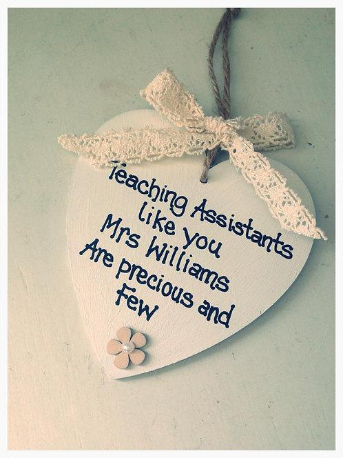 Teaching Assisstant/Teacher personalised heart